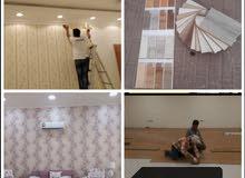 متخصصين في تركيب جميع انواع الباركيه وتوريدهعمال ورق الجدران المهنية صباغ خبرهمت