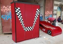 غرفة نوم اطفال شكل سياره