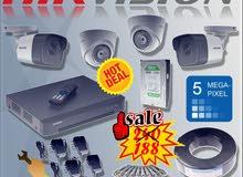أقوى العروض نظام 4 كاميرات Hikvision  5Megapixel بسعر الجملة