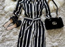 Elegant Casual Striped Dress