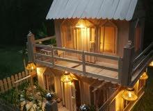 تصميم بيوت خشبيه اهديها الى من تحب او زين بها بيتك