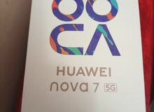 جهاز هواوي نوفا 7 وكالة 5G