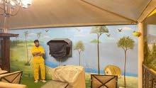 ورق حائط ، طلاء داخلي وخارجي ، ديكور منزلي داخلي ، صندوق تلفزيون جبس