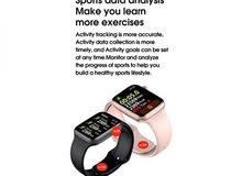 ساعة ذكية لقياس معدل نبض القلب وتخطيط القلب الكهربائي ودرجة الحرارة وبتصنيف قوة تحمل الماء والغبار