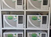 للبيع جميع أنواع المكيفات الشباك مستعمله مع التوصيل والتركيب بضمان محل