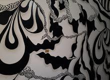 صباغ مصري خبره 9سنين باعمال الديكور بالكويت موجود ب صلاله تركيب ورق جدران رسم
