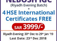 Enroll Nebosh Safety Course in Riyadh