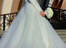 فستان زفاف للبيع - فستان عروسة أبيض جديد للبيع