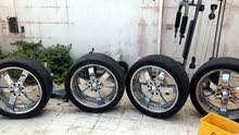 "26"" chrome wheels with tyres for Hummer H2 , 8 holes"