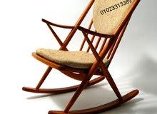 كرسي هزاز خشب