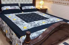 beautiful patchwork bedsheets with 2 pillow covers