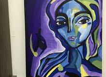 لوحه فنيه بنمط تشكيلي canvas