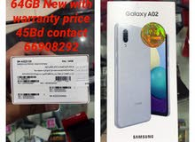 new galaxy A02 64GB with warranty