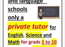science and mathematics teacher expert in IGCSE curriculums for grades 1 to 10