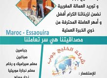 نتوفر على امهر الحرفيين والمهنيين بكفاءات عاليه للعمل في دول الخليج العربي