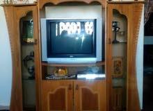 بوفيه خشب للبيع مع التلفزيون ب 40 بدون تلفزيون 30 و لتواصل0795355573