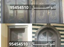 أبواب كاست الومنيوم وستانلس ستيل (وسلالم وحواجز والبلكونات والطاولات والعربات)