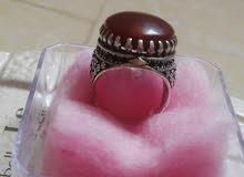 للبيع خاتم عقيق أحمر يماني