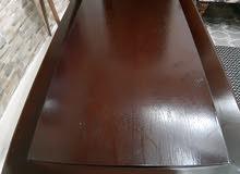 طاولة وسط موديرن ثقيلة خشب زان و لاتيه