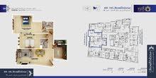 شقة بأفخم مشاريع الوحدة للبيع ارضي الى السطح مساحتها 119.99متر