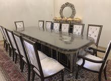 طاولة طعام صناعة فاخرة 14 كرسي مع بوفية استعمال خفيف