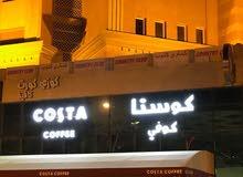 للبيع مقهي شيشا ومطعم بفندق بالسالمية مساحه 300 متر مجهز