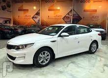 White Kia Optima 2017 for rent
