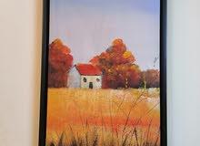 لوحات  زيتية الطول 85 والعرض 45 سعر الواحدة 35