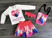 ملابس اطفال بناتي اربع قطع