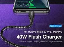 سلك قماش تايب سي شحن سريع type c cable fast charging