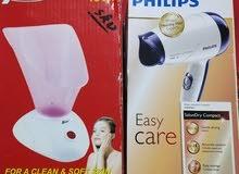 جهاز مساج +جهاز بخار للوجه جديد ومجفف شعر جديد ومكنسه