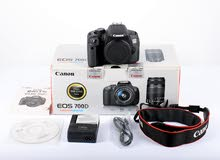 Canon DSLR 700D touch screen with box