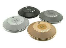 سماعات سبيكر بلوتوث مكيرفون مكبرات صوت وشاحن لاسلكي وخدمات أخرى (دائري بيضاوي)