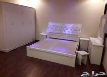 غرف نوم جديده الوان مختلفه جاهزه للتركيب مباشرة للزبون وطنى 6قطع