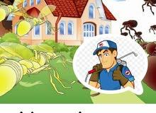 خدمات تنظيف وتلميع المباني ومكافحة الحشرات