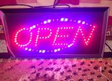 لوحة  OPEN مضيئة ومتحركه LED