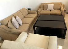 sofa set -two seater sofa/three seater sofa/armchair /central table-all for 60kds
