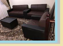 أريكة نظيفة ونظيفة 3 + 2 + 1 + 1 كل الألوان لدي لون أسود بني أبيض