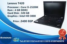((Lenovo T420) من أفضل الابات الاستيراد  رامات 4 جيجا +هارد 320 جيجا وبسعر مميز