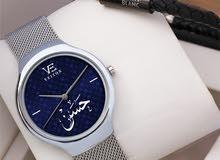 اطقم رجالية بالاسم   ساعة رجالي حسير ماركة فيتون  *تصميم الاسم حسب الطلب*