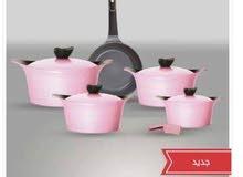 الطهى السيراميك الكورى الأصلية طقم 11 قطعة. حلة 18 سم. حلة 20 سم. حلة 24 سم. حلة