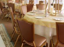 طاولات و كراسي للمناسبات قاعات او خيام
