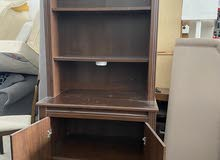 book shelves with drawers