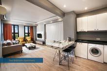 شقق سوبر لوكس غرفتين نوم وصاله ضمن مجمع فندقية تقسيم شارع الاستقلال