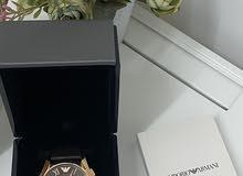 ساعة يد ماركة أرماني أصلية بجميع ملحقاتها