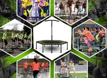 48 inch Trampoline with Adjustable Handle Bar Fitne