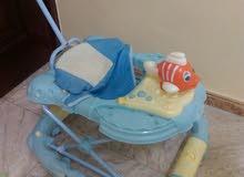 عربة اطفال - مقعد سيارة - حاملة اطفال للرحلات - مرش لتعليم الاطفال المشي