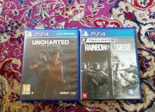 لعبة uncharted و rainbows  six