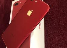 ايفون7 بلس ذاكرة 128 ( أحمر ) قمة النظافة مع كامل ملحقاته