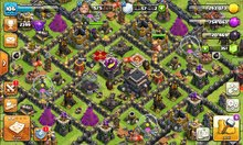 قرية clash of clans بيت 8 لفل 74